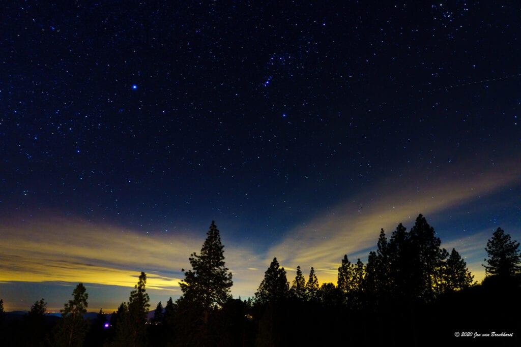 Night skies at Courtwood Inn, photo by Jon van Bronkhorst
