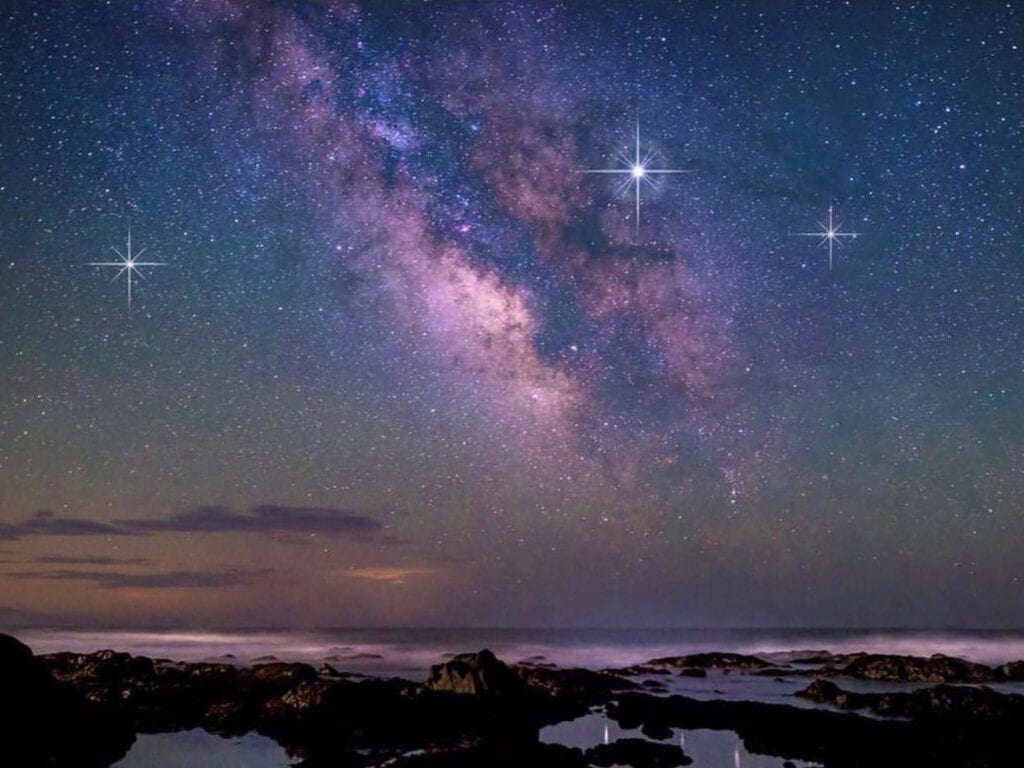 Night sky views from the Inn at the Lost Coast, photo by Humboldt Girl Photography