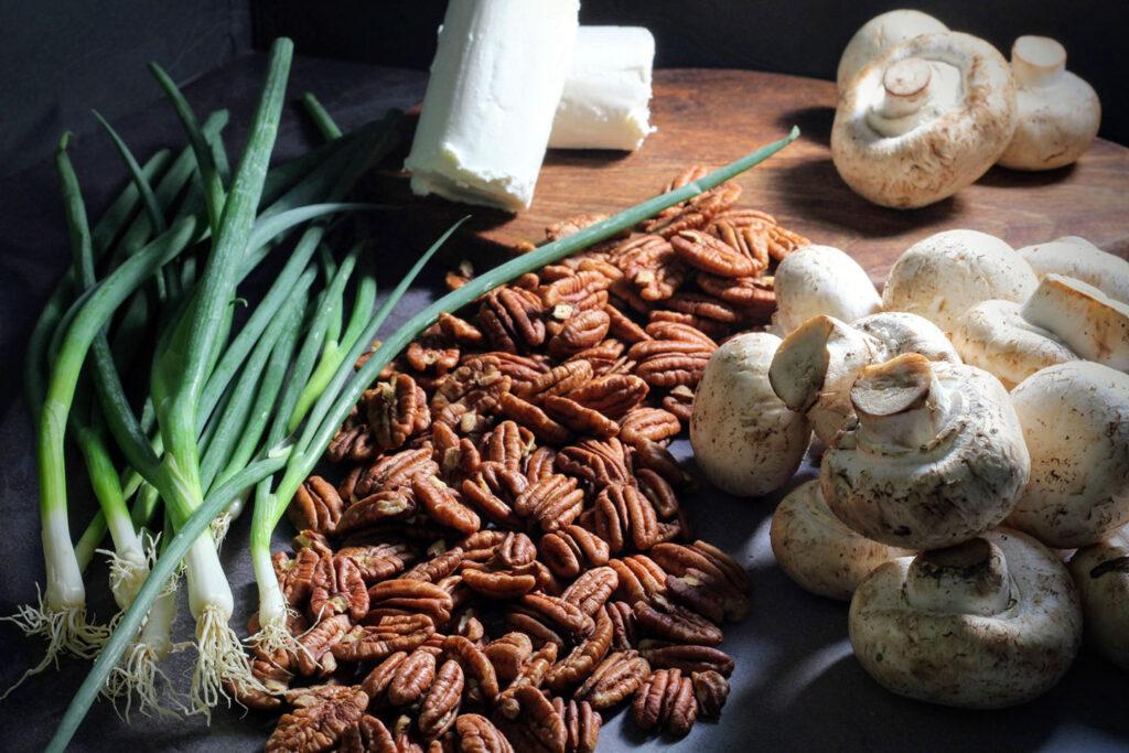 Ingredients for Simpson House Inn's Market Mushroom Strudel