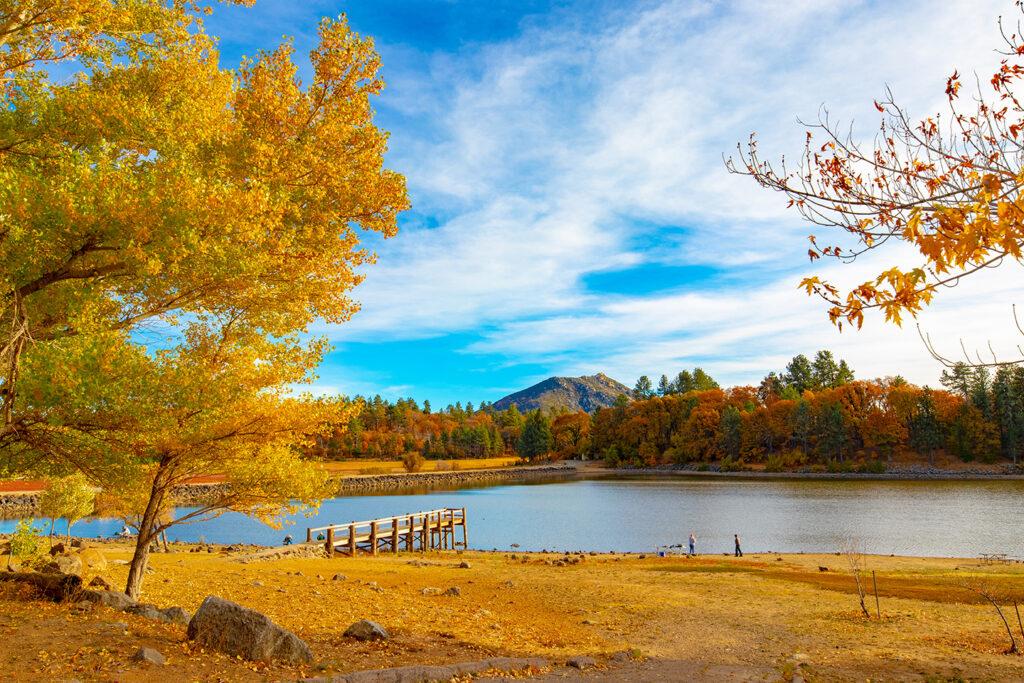 Lake Cuyamaca in the fall