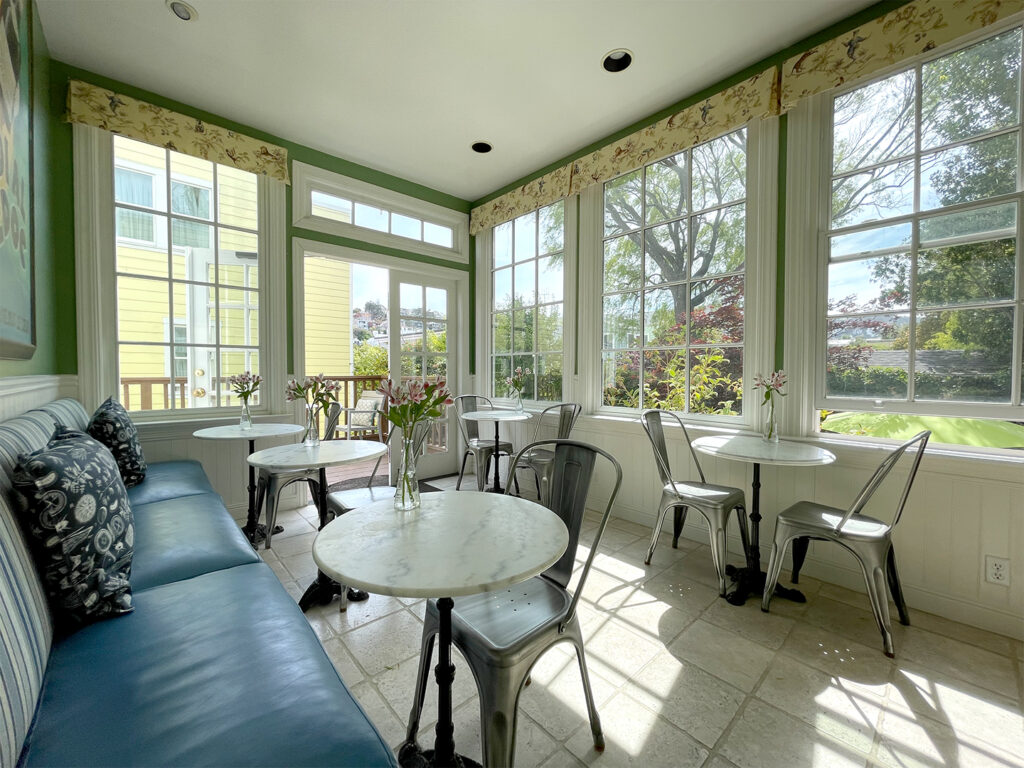 Sunroom of the Parker Guest House