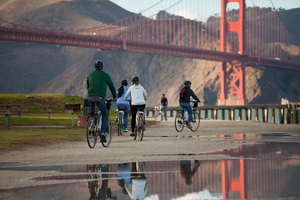 Bicycling along Crissy Field