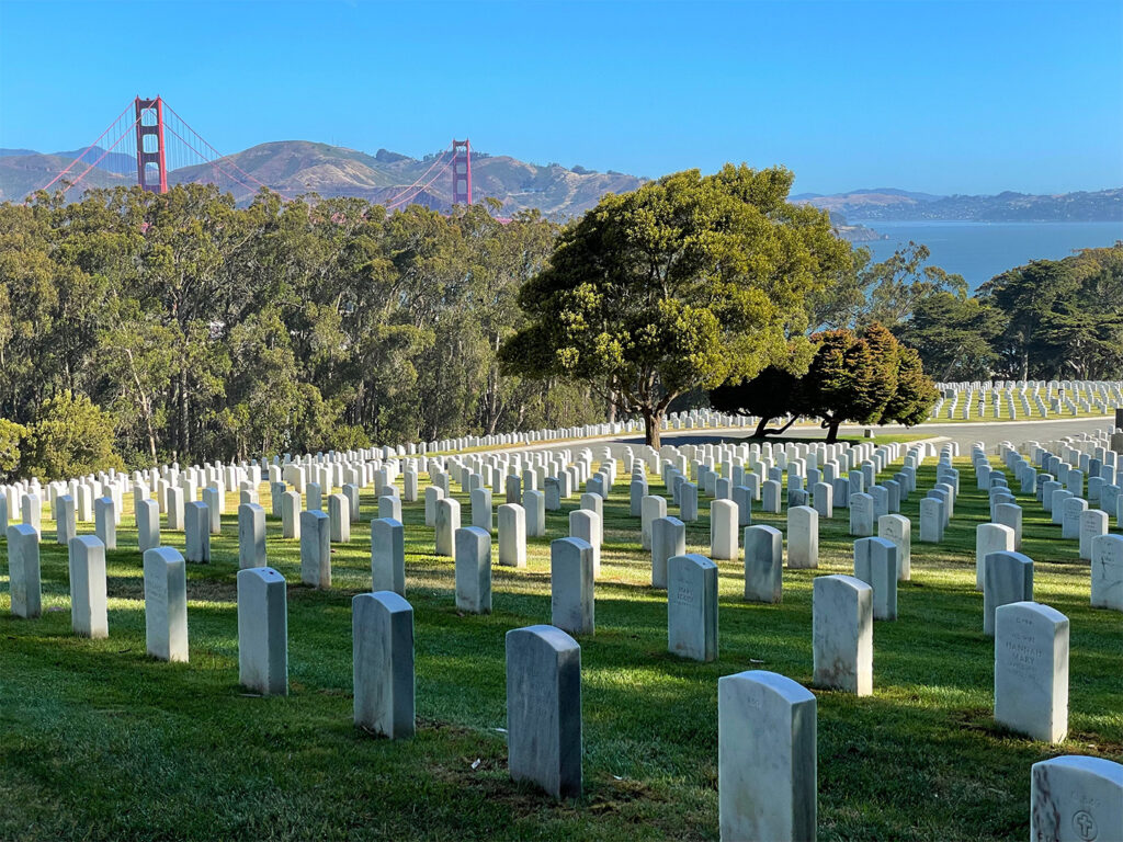 The Presidio's National Cemetery Overlook